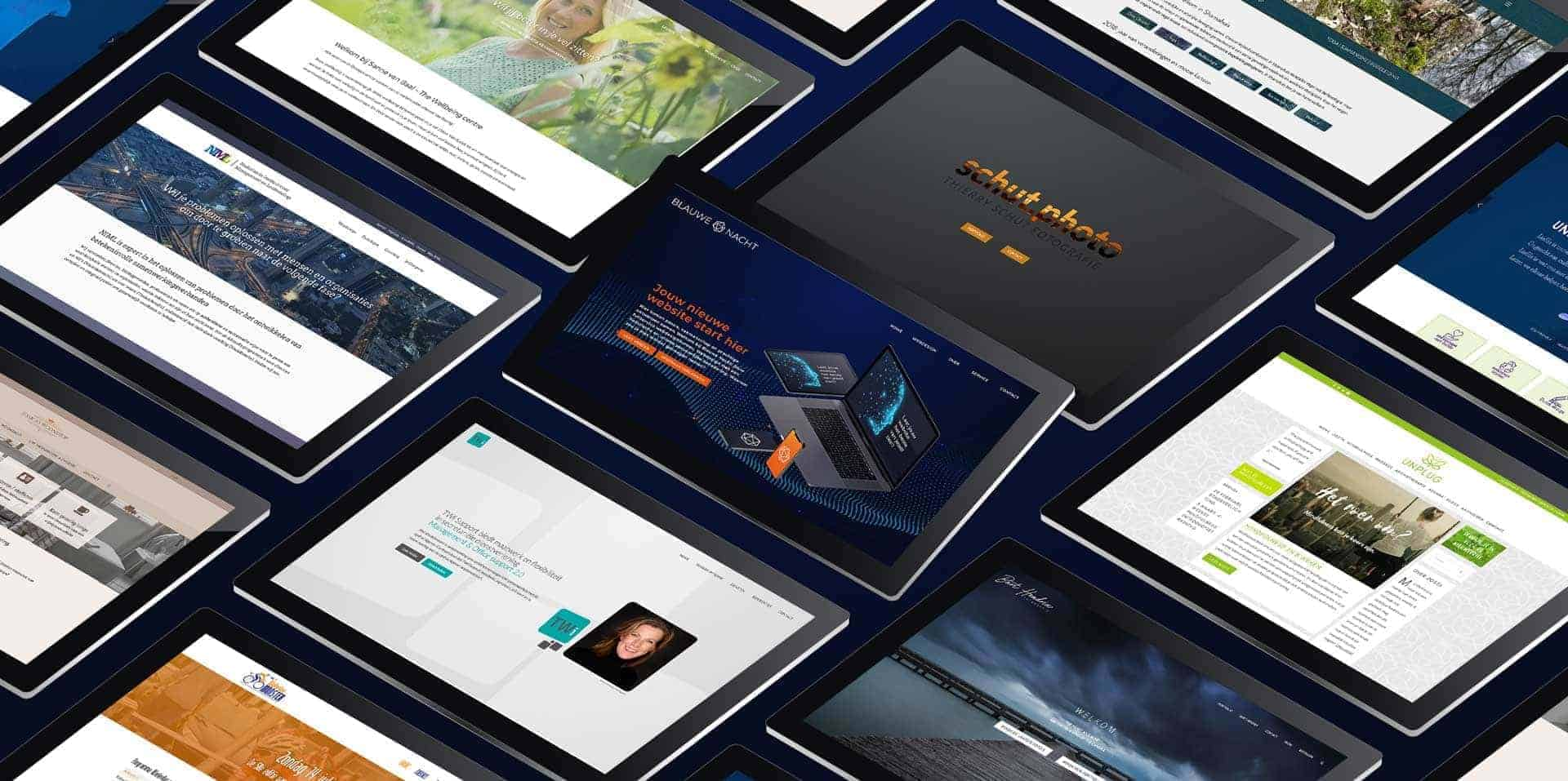 Blauwe Nacht webdesign websites in grid view